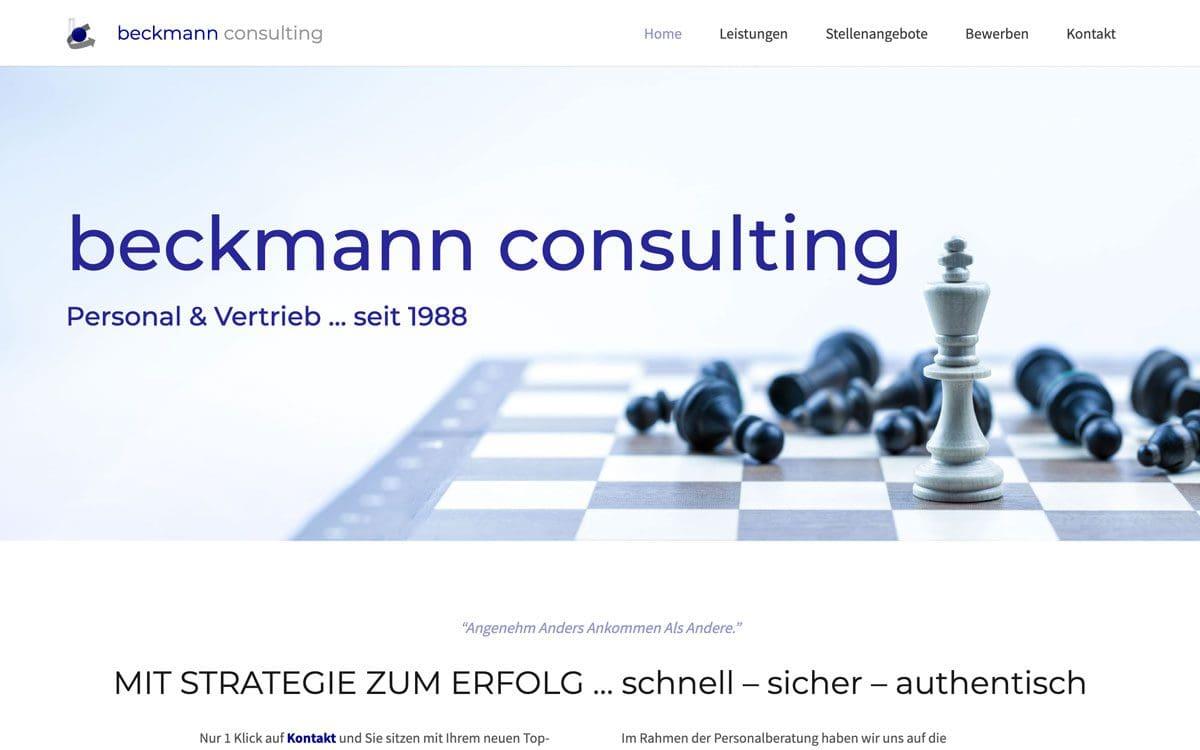 Screenshot von Beckmann Consulting, Referenz von Webface