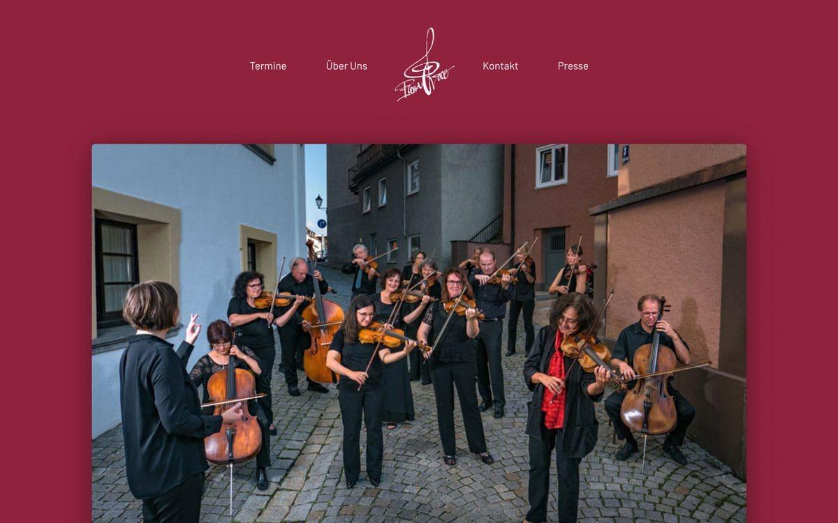 Screenshot der neuen Homepage von Plena Voce